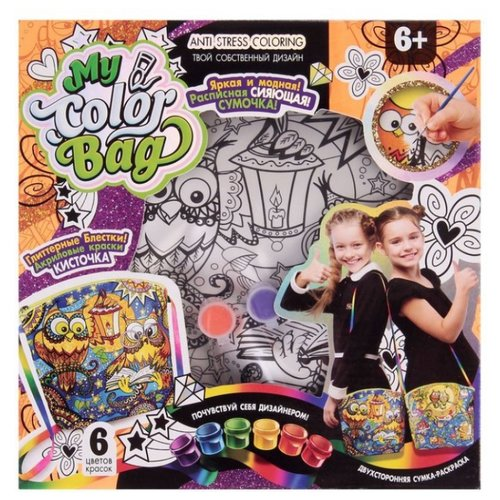 Danko Toys Сумка-раскраска My Color Bag мини Совушки (mCOB-01-03) мини поднос совушки