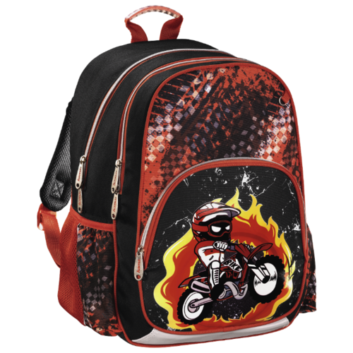 цена Hama Рюкзак Motorbike (139086), черный/красный онлайн в 2017 году
