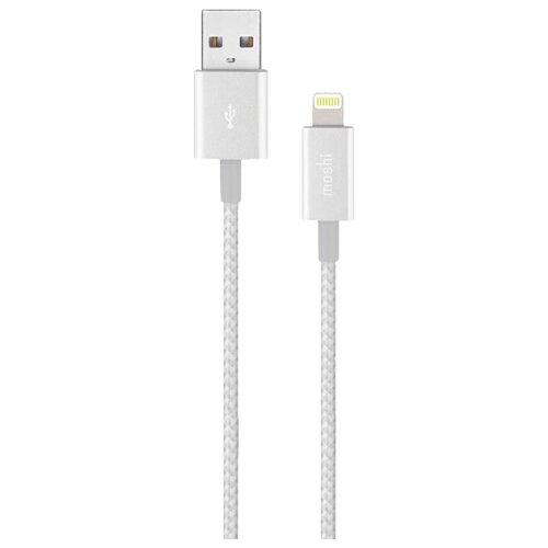 Кабель Moshi Integra Lightning to USB-A Charge/Sync Cable 1.2 м jet silverКомпьютерные кабели, разъемы, переходники<br>