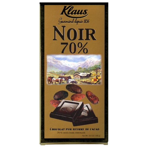 шоколад klaus горький 80% какао 100 г Шоколад Klaus горький, 100 г