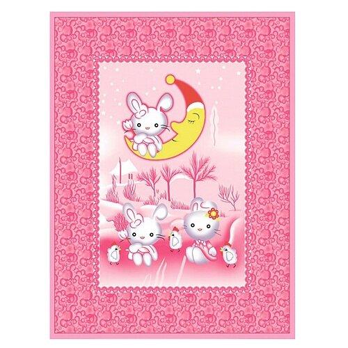 Фото - Одеяло Baby Nice D321511 100х140 см Зайка на луне, розовый аксессуары для колясок baby nice конверт baby nice с меховой подкладкой розовый