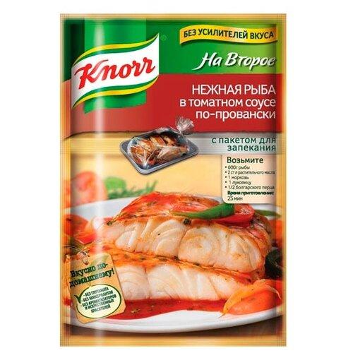 Knorr Приправа Нежная рыба в томатном соусе по-провански, 23 г