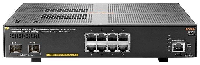 Коммутатор HP Aruba 2930F 8G PoE+ 2SFP+