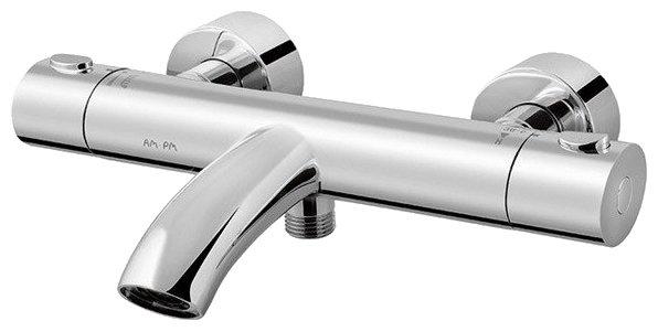 Термостатический двухрычажный смеситель для ванны с душем AM.PM F7550000