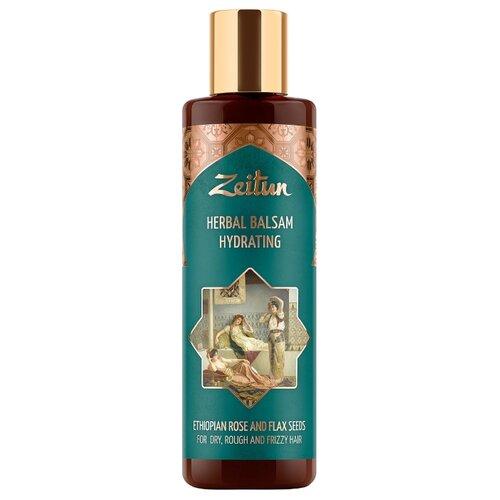 Купить Zeitun бальзам Herbal Hydrating увлажняющий для сухих, кудрявых и жестких волос с эфиопской розой и льном, 200 мл