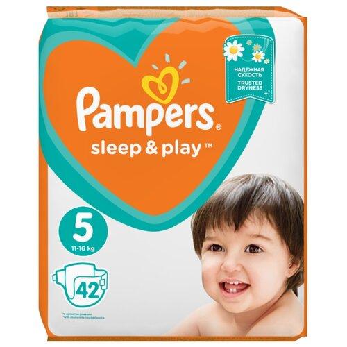 Pampers подгузники Sleep&Play 5 (11-16 кг) 42 шт.Подгузники<br>
