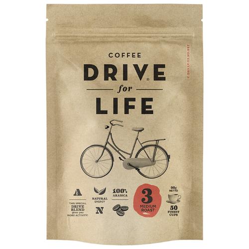 Кофе растворимый DRIVE for LIFE Medium, пакет 90 гРастворимый кофе<br>