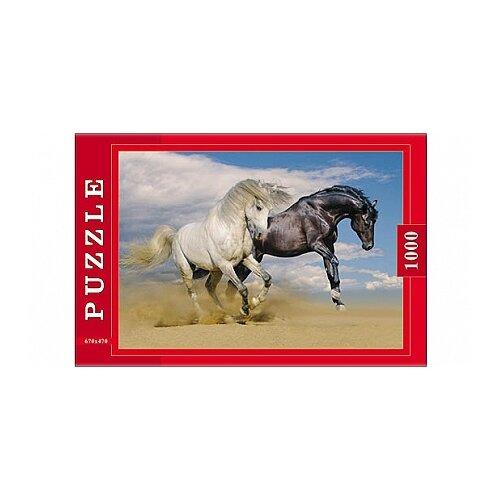 Фото - Пазл Рыжий кот Две лошади (П1000-0598), 1000 дет. пазл рыжий кот konigspuzzle россия йошкар ола гик1000 6534 1000 дет