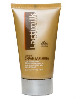 Lactimilk Скраб Probiotic Face Care мягкий для всех типов кожи