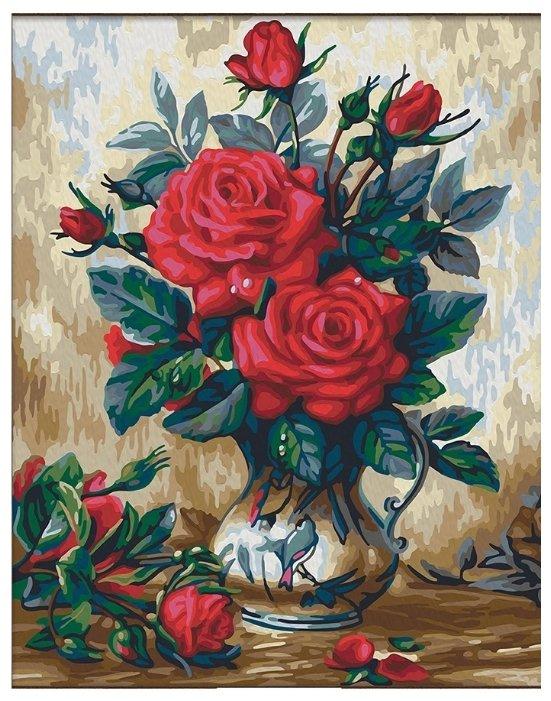мосфа картина по номерам прекрасные розы 40х50 см 7с 0155 купить по выгодной цене на яндекс маркете