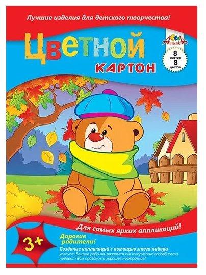 Картон цветной радужный (4 листа, 2 цвета) ( 33996-50)