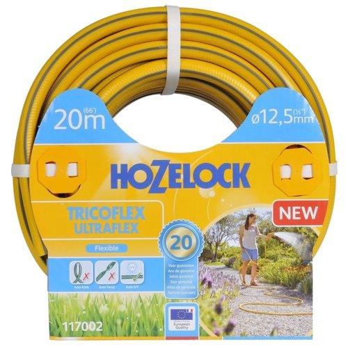"Шланг HOZELOCK Tricoflex Ultraflex 1/2"" 20 метров желтый"
