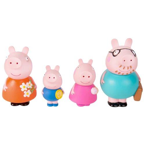 Набор для ванной РОСМЭН Семья Свинки Пеппы (34805) розовыйИгрушки для ванной<br>