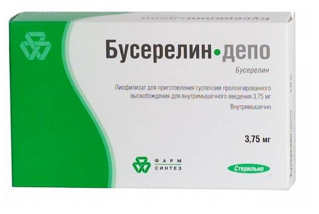 Бусерелин-депо лиоф. д/сусп в/м пролонг 3,75мг №1