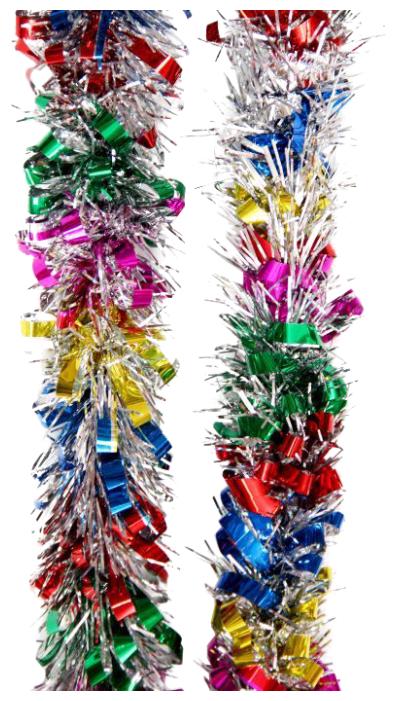 Мишура Феникс Present новогодняя цветная 200
