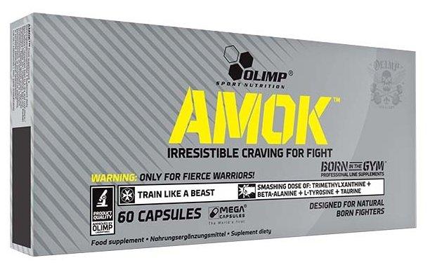 Предтренировочный комплекс Olimp Amok (60 шт.)