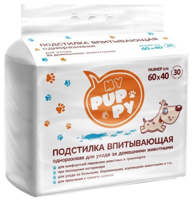 Пеленки для собак впитывающие Медмил My Puppy 60х40 см