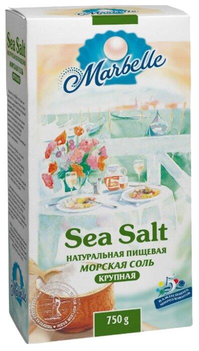 Соль морская пищевая Marbelle натуральная крупная, 750 г