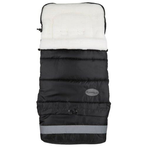 Конверт-мешок Leader Kids меховой (овчина) в коляску Трансформер 103 см черный