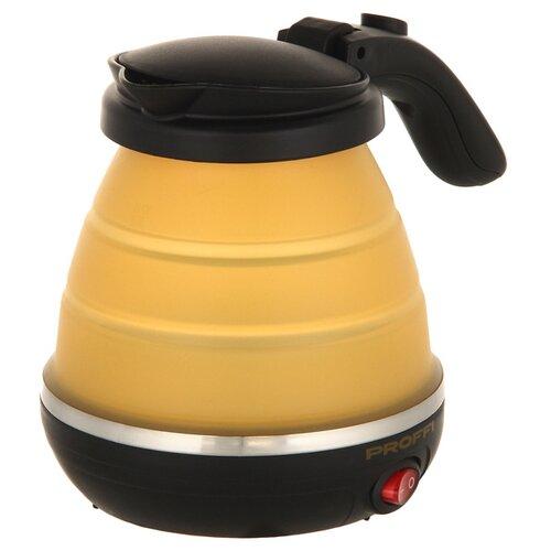 Фото - Чайник PROFFI PH8870, черный/желтый чемодан proffi kingsize xl 110 л черный