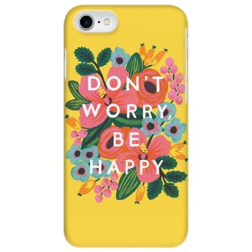 цена Чехол Mitya Veselkov IP7.MITYA-040 для Apple iPhone 7/iPhone 8 don't worry на желтом онлайн в 2017 году