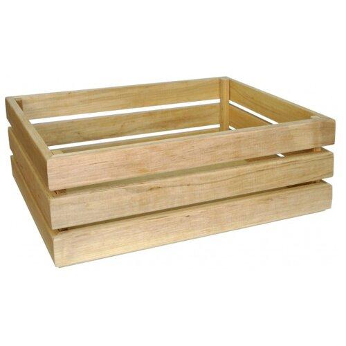 Мастер Рио Ящик для хранения и декорирования средний 47х30х14 см натуральное деревоКорзины, коробки и контейнеры<br>