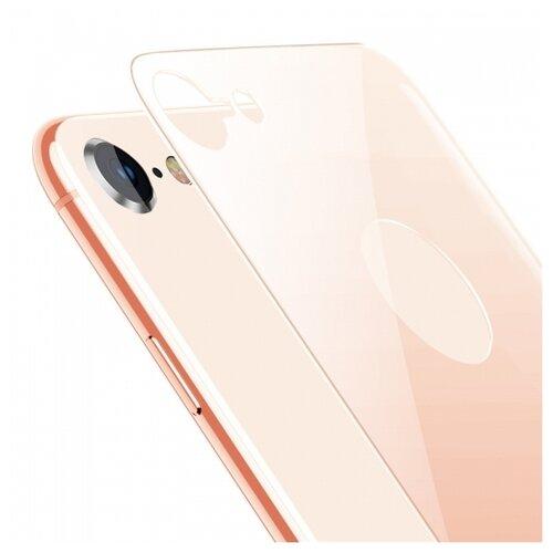 Защитное стекло Baseus 4D Back Tempered Glass Film для Apple iPhone 8 goldЗащитные пленки и стекла<br>
