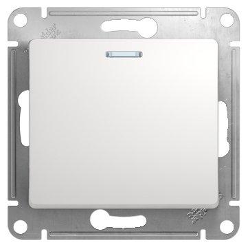 Выключатель 1-полюсный Schneider Electric GLOSSA GSL000113, 10А , белый