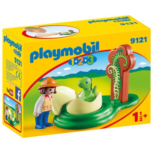 Набор с элементами конструктора Playmobil 1-2-3 9121 Девочка и яйцо динозавра яйцо шкатулка sima land девочка и кулич высота 10 см