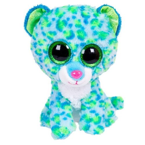 Купить Мягкая игрушка Chuzhou Greenery Toys Леопард голубой 15 см, Мягкие игрушки