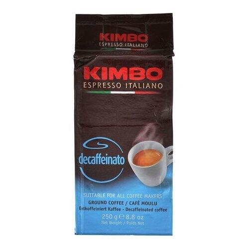 Кофе молотый Kimbo Decaffeinato вакуумная упаковка, 250 г цена 2017