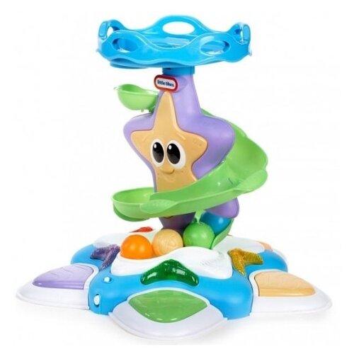 цена на Интерактивная развивающая игрушка Little Tikes Морская звезда с горкой-спиралью голубой/фиолетовый/зеленый