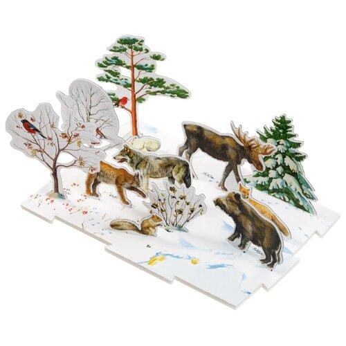 Пазл Умная Бумага Зима в лесу (091), 13 дет. умная бумага пазл для малышей ракета