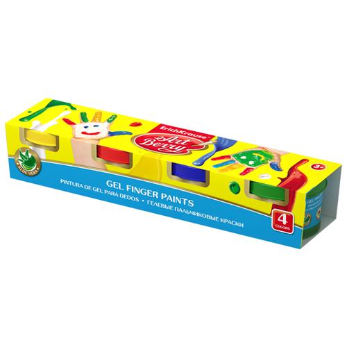 ErichKrause Гелевые пальчиковые краски ArtBerry с Алоэ Вера 4 цвета (41751)