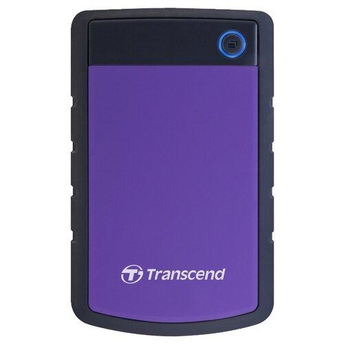 Фото - Внешний HDD Transcend StoreJet 25H3P 1 ТБ черный/фиолетовый внешний hdd lacie mirror 1tb 1 тб