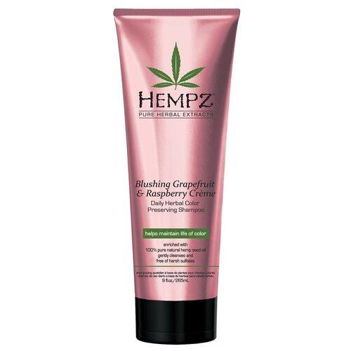 Hempz шампунь Daily Hair Care Blushing Grapefruit & Raspberry Creme 265 мл hempz шампунь тройное увлажнение 265 мл