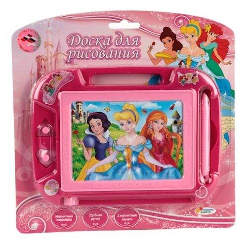 Купить Доска для рисования детская Играем вместе Дисней Принцессы (HS8006KPF) розовый, Доски и мольберты