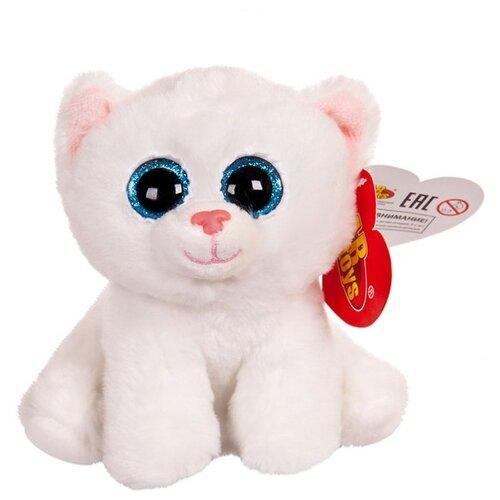 Купить Мягкая игрушка ABtoys Котёнок белый с голубыми глазами 15 см, Мягкие игрушки