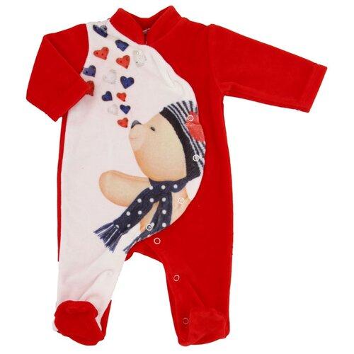 Комбинезон Linas Baby размер 74 (6-9), белый/красныйКомбинезоны<br>