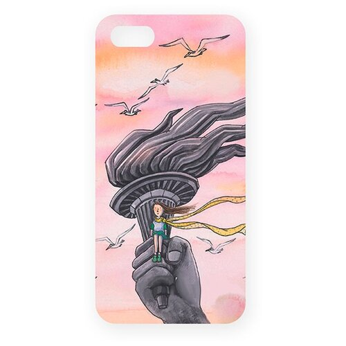 Чехол Mitya Veselkov IP5.МITYA-165 для Apple iPhone 5/iPhone 5S/iPhone SE В розовых облаках mitya veselkov ежик в молочном тумане чехол для apple iphone 5 5s