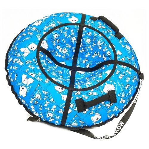Фото - Тюбинг RT Собачки, 105 см голубой/белый тюбинг rt snow star 105 см