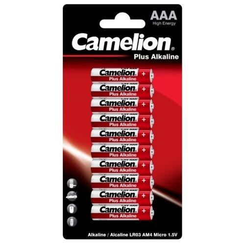 Батарейка Camelion Plus Alkaline AAA, 10 шт. батарейки camelion plus alkaline aaa 24 шт pb 24