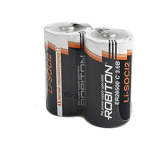 Фото - Батарейка ROBITON ER26500-FT с лепестковыми выводами SR2, 2 шт. батарейка robiton er26500 dp с коннектором ph1 1 шт