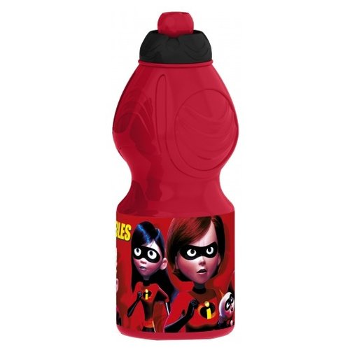 Бутылка для воды, для безалкогольных напитков Stor спортивная фигурная 0.4 пластик Суперсемейка 2
