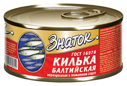 Знаток Килька балтийская неразделенная в томатном соусе, 240 г