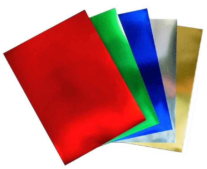 Набор бумаги Sadipal с фольгированным покрытием 225г/кв.м, 50x65см, 5л Sadipal 20287