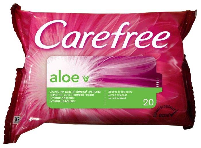 Салфетки Carefree Aloe влажные для интимной гигиены 20 шт