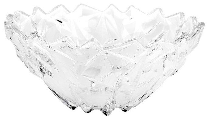 Коралл Салатник сервировочный Гранение лед 25 см прозрачный