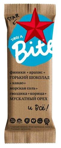 Батончик Bite фруктово-ореховый шоколад-мускатный орех 45 г