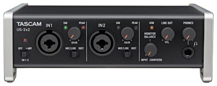 Внешняя звуковая карта Tascam US-2x2